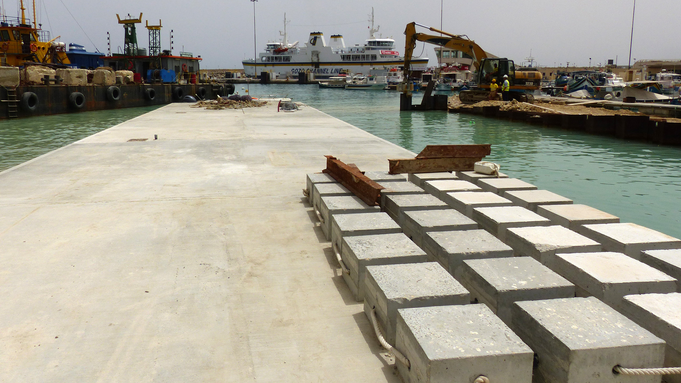 New Mgarr Harbour quays